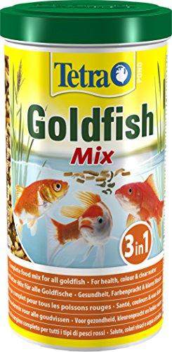 Tetra Pond Goldfish Mix Premium Hauptfutter (Futtermix aus besten Flocken), 1 Liter Dose