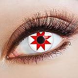 aricona Kontaktlinsen Farblinsen weiße Kontaktlinsen farbig zum Zombie Krankenschwester Kostüm