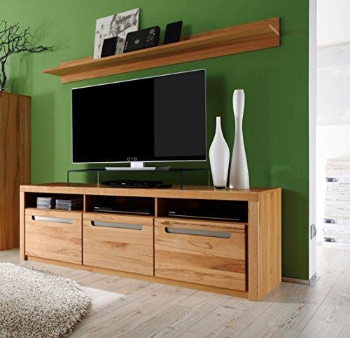 trendteam ZO32065 TV Möbel Lowboard, BxHxT 178 x 59 x 50 cm, Korpus Kernbuche Nachbildung und Fronten in Kernbuche massiv - 2