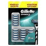 Gillette Mach3 Rasierklingen Für Männer, 1er Pack (1 x 20 Stück)