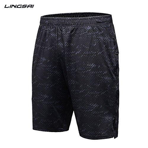 Balai Uomo Quick Dry Stretch Compressione Base layer Fitness Pantaloncini Pallacanestro Calcio Running Traspirante Pantalone Corto, M-XXXL