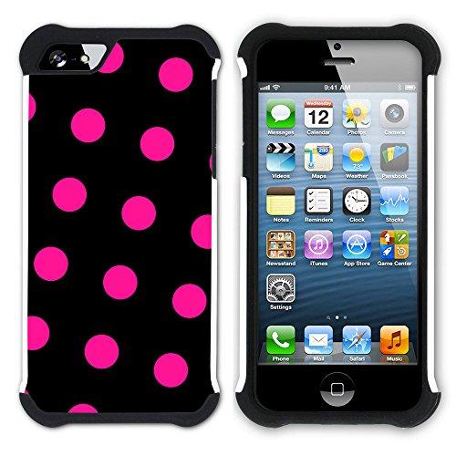 Graphic4You Regenbogen Punktmuster Tupfen Muster Hart + Weiche Kratzfeste Hülle Case Schale Tasche Schutzhülle für Apple iPhone SE / 5 / 5S Design #5