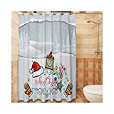 KnSam Anti-Schimmel Duschvorhang Anti-Bakteriell, Wasserdicht, Waschbar Badewanne Vorhang inkl. 12 Duschvorhangringe für Badzimmer - Stil 4 180x180cm