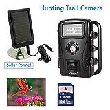 HUAXING RD1003 Outlife Scouting Trail Camera IR Infrarot-Jagd-Kamera LED 720P Fallenvideo Wildlife Solar Batterie + 8GB SD-Karte