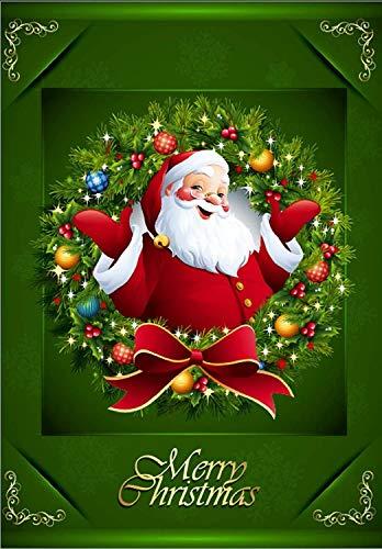 Dekorative Garten Flagge Santa Claus für Winter Weihnachten Urlaub doppelseitig 31,8x 45,7cm (Garden Flags New Jahren)