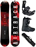 Airtracks SNOWBOARD SET - WIDE BOARD EIGHT 155 - SOFTBINDUNG MASTER - SOFTBOOTS MASTER QL 43 - SB BAG