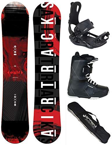 Airtracks SNOWBOARD SET - WIDE BOARD EIGHT 150 - SOFTBINDUNG MASTER - SOFTBOOTS SAVAGE BLACK 43 - SB BAG All Terrain Snowboard-boots