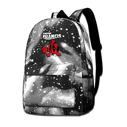 Finding-Francis Galaxy School Backpack,Space School Bag Student Stylish Unisex Laptop Book Bag Rucksack Daypack for Teen Boys and Girls Francis Place