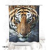 Duschvorhang 150x200cm Textil Design Motiv Tiger antischimmel waschbar