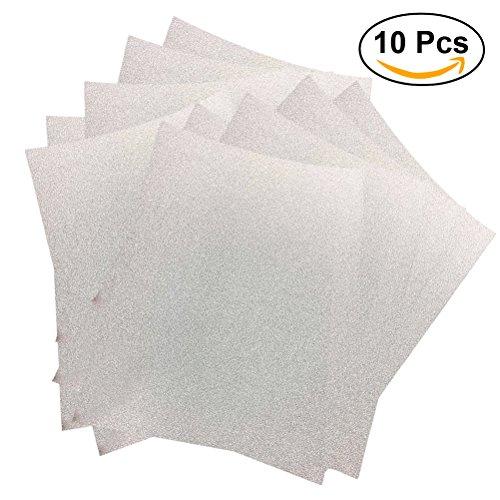 ULTNICE 10pcs Glitter Cardstock Papier Schein A4 Karte für Diy Craftwork Silber-glitzer-papier-karton