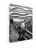 Edvard Munch - Schreien - 45x60 cm - Premium Leinwandbild auf Keilrahmen - Wand-Bild - Kunst, Gemälde, Foto, Bild auf Leinwand - Alte Meister/Museum