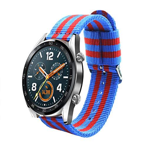 Estuyoya - Bracciale in Nylon Compatibile con Huawei Watch GT Sport/GT Classic/Fashion/GT Active Colori di Barcelona, Larghezza 22...