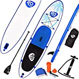 COSTWAY Sup Board Paddelboard Surfboard Stand Up Board Set Paddelbrett 330 x 76 x 15cm aufblasbar