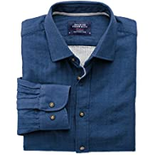 Extra Slim Fit Hemd aus beidseitigem Gewebe in blau