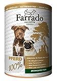 Farrado Premium Nassfutter getreidefrei für Ihren Hund – mit Pferd, Lachs, Kaninchen oder Ente (Pferd & Kartoffeln)