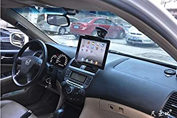 ICEBERG MAKERS.IN Headrest Suction Car Air Vent Clip Car Holder Stands For Both Mobile Phones And Ipad Galaxy Tablets Use Size 4'-10.1' Inch-Black