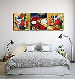 LB Tema musicale,moderno strumento musicale astratto_Quadro su tela decorazione domestica,3 pannelli,40 x 40 cm,con cornice