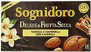 Sogni Doro Tisana Deliziefrutta Secca Vaniglia, Mandorla e Cannella - 16 Filtri, 40 g