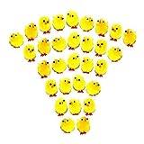 Pack of 30 Yellow Mini Chenille Fluffy Easter Bonnet Chicks