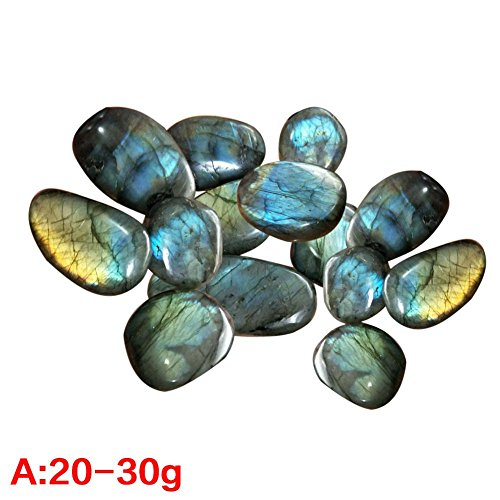 WUYANSE Natürlicher Kristallmondstein polierter Kies, Aquarium-Dekoration Natürlicher polierter Mischfarbenstein, Kleiner dekorativer Fluss-Felsen