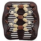 JUSTFOX - Trend African Hairclip Haarklammer mit Ornamenten weiß