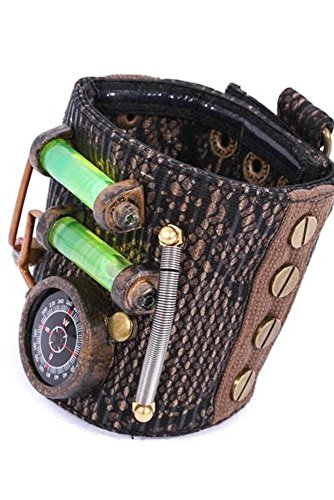 RQ-BL Steampunk Armband Kompass