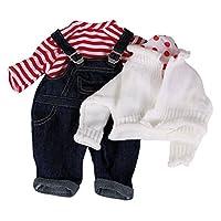 Gotz 3401999 Dungarees Set Sailor - Size M - Dolls Clothing / Accessory Set - Suitable For Baby Dolls Size M (42 - 46 cm)