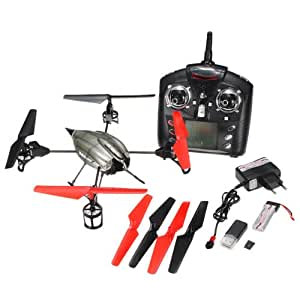 WLtoys V959 4-Axis I/R RC télécommande UFO Quadcopter hélicoptère GYRO caméra lumière