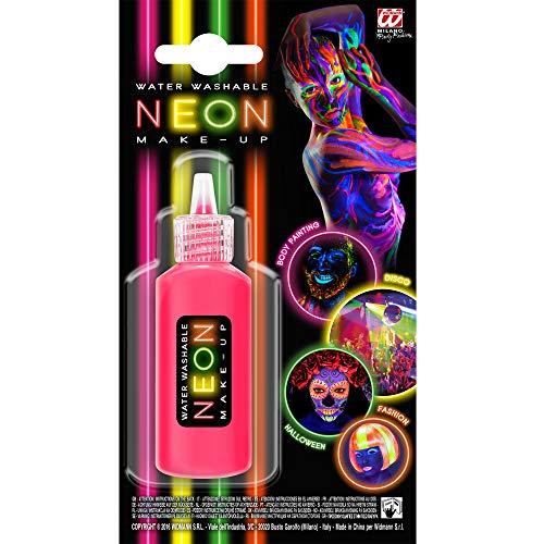 Widmann 50006 Make-Up Neon in Dosierflasche, Pink