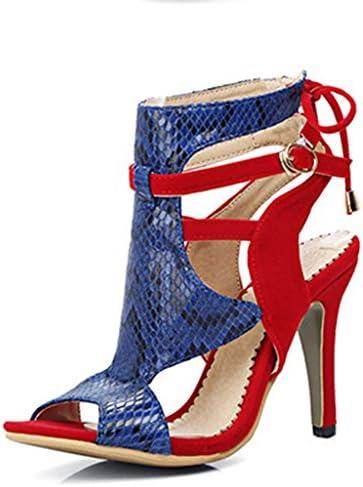 Sandalias De Las Mujeres Tacones Altos Peep Toe Retro Strappy Plataforma Stiletto Court Shoes Botas Fashion Pump...