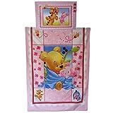 Disney Peluche Winnie et Porcinet Parure de lit pour lit de bébé (Taie d'oreiller...