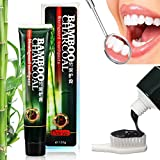 Whitening Zahnpasta , BINKBANGBANGDA Bamboo Charcoal Zahnpasta Activated Charcoal Teeth Whitening Toothpaste, Intensivreinigung zahnpastatube Whitening Zahnpasta,Schlechten Atem und Zahnflecken entfernen, Zahnaufhellung Zähne(Upgrade-Version)(120g)