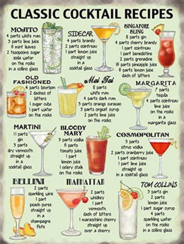 small-classic-cocktail-recipies-kitchen-pub-vintage-retro-metal-tin-sign-10647-small