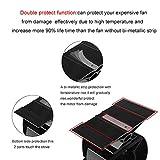 JKsmart Mini Stove Fan for Small Space on Log/Wood Burner/Stove/Fireplace,Eco Friendly Silent Small Fan(Black)