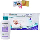Himalaya Herbals Baby Lotion (100ml)+Himalaya Herbals Gentle Baby Wipes (72 Sheets) With Happy Baby Luxurious Kids Soap With Toy (100gm)