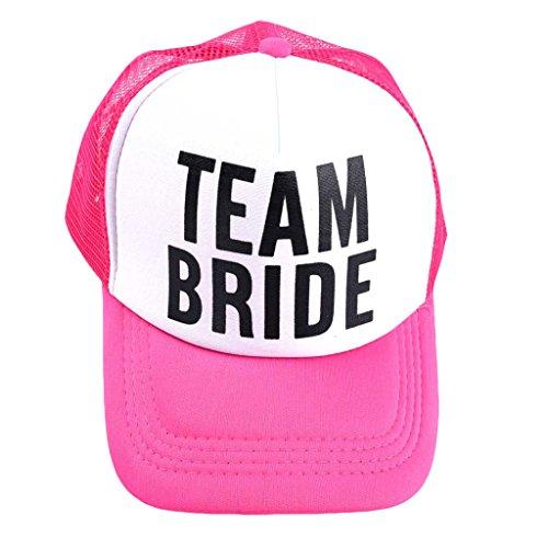 JOYKK Braut Baseball Mütze Braut Hochzeit Party Trucker Cap - Pink