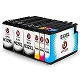 Uoopo 932XL 933XL Kompatibel Ersatz für HP 932XL 933XL Druckerpatrone, Multipack Patronen (3 Schwarz 1 Cyan 1 Magenta 1 Gelb) Kompatibel mit HP Officejet 6700 premium 6600 6100 7612 7110 7610 Drucker.