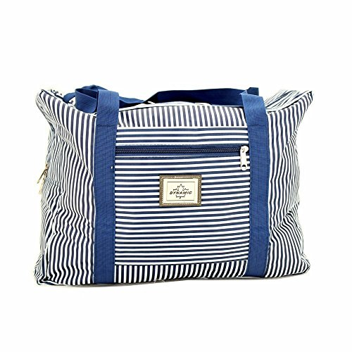 Iwea Strandtasche Marine Badetasche Shopper Einkaufstasche Reisetasche Freizeittasche Blau/Weiß IW071