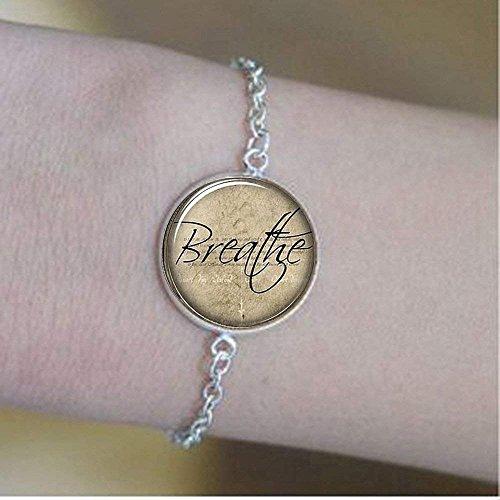 Atmen Armband, inspirierende Wort Armband, Motivierende Zitat