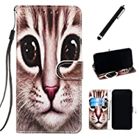 Beddouuk Compatible with Samsung Galaxy J6 Plus Case,Creative 3D Premium Leather Flip Cover Kickstand Card Slots Wallet Case Folio Notebook Case for Galaxy J6 Plus-Cat