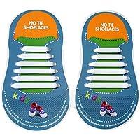 HTT Embroma el cordón elástico del cabrito, un tamaño cabe los cordones del zapato del calzado del silicón perfectos para los zapatos de la zapatilla de deporte Oxford y calzado casual