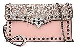 AalarDom Damen Dacron Besetzt Party Einkaufen Umhängetaschen Schulranzen, TSEBG181905, Pink