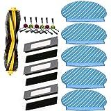 Nrpfell Set di Panno per Mop per Spazzole con Filtro per Deebot Ozmo 920 950 spirapolvere Parti di Ricambio ccessori per…