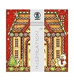 Ursus 703000220 - Premium Glitter Scrapbook paper Gingerbread, ca. 30,5 x 30,5 cm, 5 Blatt, Motiv 220