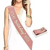 Konsait oro rosa Glitter compleanno Fascia, Its My Birthday Bitch fusciacca gadget per Decorazioni festa di compleanno Regali per ragazze donna 16 ° 18 ° 21 ° 30 ° 40 ° 50 ° 60 anni compleanno