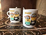Satyam Kraft minion couple mugs with spo...