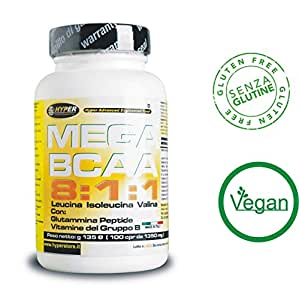 BCAA 8:1:1 Aminoacidi ramificati | potenziati con Glutammina Peptide e Vitamine del gruppo B | 600 Compresse 810 gr| Nuova formulazione con rapporto 8:1:1 (8 leucina, 1 Isoleucina, 1 Valina) | Aumento e recupero Massa Muscolare |