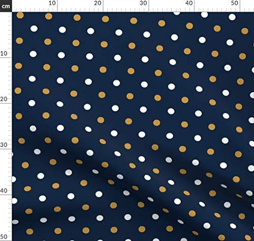 Gold Und Marine, Indiana, Fußball Stoffe - Individuell Bedruckt von Spoonflower - Design von Rick Rack Scissors Studio Gedruckt auf Baumwoll Spandex Jersey -