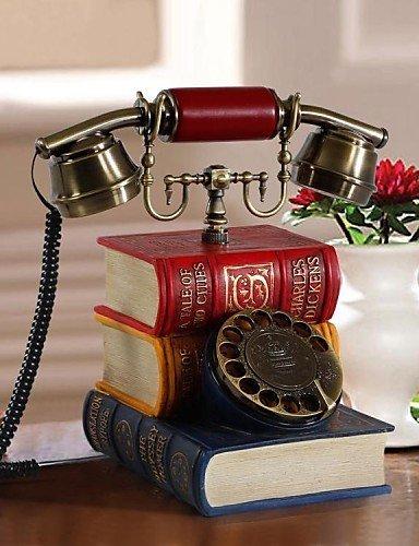 Neuheit Kronleuchter (JU Neuheit-kreatives antikes Art-Buch-Form Polyresin Haupttelefon-Retro- Vorwahlknopf)