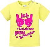 EZYshirt® Ich bin bald eine grosse Schwester Baby T-Shirt